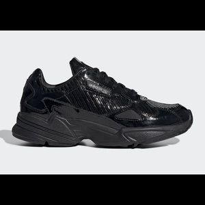 Adidas Falcon patent leather black